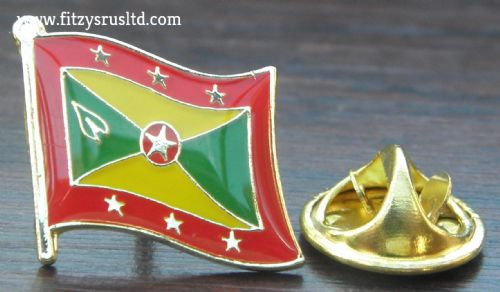 Grenada Flag Lapel Hat Cap Tie Pin Badge Island of Spice St. George's Souvenir